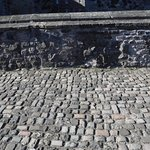 Cobblestone in Edinburgh Castle.