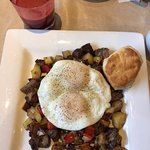 Prime Rib Hash & freshly squeezed juice :)