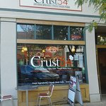 Outside seating area at Crust 54