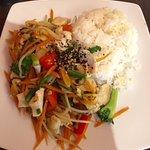 Chicken, veggies and rice