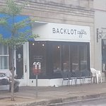 Front & entrance to Backlot Coffee