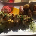 Brochette de calamar et chorizo (excellente association de saveurs)