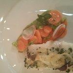 pickled halibut· carrot·marinated lemon