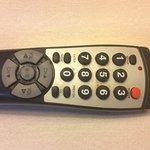 Soiled tv remote control