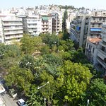 a view from room towards Exarchia square