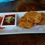 Shrimp Cakes, wonderful dipping sauce