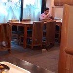 Sala de los desayunos, también sirven cenas.