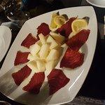 Carpaccio di tonno e melone bianco