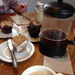 Brazil French Press and Gluten Free Muffins