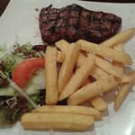 steak and chips