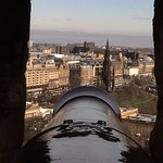 View of Edinburgh from one of the cannon in Edinburgh Castle