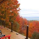 Vue du balcon de la villa la canadienne