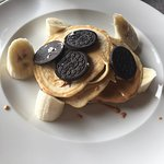 Pancake, Peanut Butter, Nutella, Banana, and Oreos- AMAZING