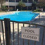 Pool CLOSED! And it was 80F outside and bright and blue ....