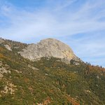 View of Moro Rock from General's Highway close to the park entrance.