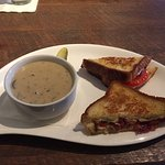 Mushroom Soup and Grilled Cheese