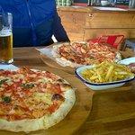 Margherita Pizza, Herb & Salt Fries & Mushroom Arrancini