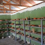 Mayan Pottery in the on-site museum