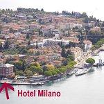 Blick auf Maderno und das Hotel vom Monte Maderno