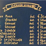 Prices of orange wine