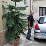 Giovani, owner of B&B in the private entrance to Corte dei Memoli