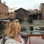 Passing the oldest gondola manufactuer and learning the process of making these beautiful boats!