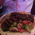 Glistening and delicious Hibachi Pepper Steak