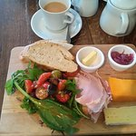 My ham and cheese platter, the salad and dressing were amazing