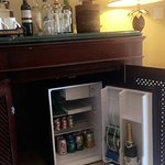 The wet bar in our room (all included and replenished daily)