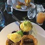 Trio of lamb & cod & chips
