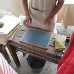 Demonstration on how to make paper