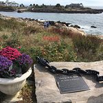 Marker commemorating their friend and 41st President of the USA: An Anchor to Windward""