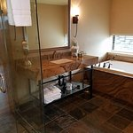 deep tub, comfortable shower and private toilet room