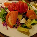 Mediterranean Salad (fresh mozzarella cheese, olives, artichoke hearts, roasted peppers, tomato)
