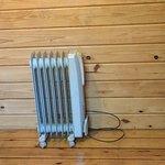 Electric radiator in back room