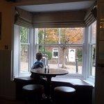 Boy in the bay window