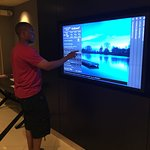 touch screen flat t.v. in the lobby