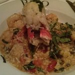lobster and shrimp with risoto