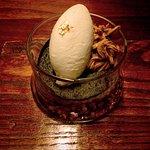 A little 24 karat gold leaf for dessert.