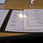 The Menu opened up with an extra page of the specials.