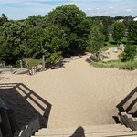 This is where you can climb up the dune - as seen from the top