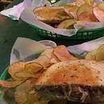Great Reuben, awesome chips!