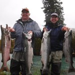 """JJ knows where the fish are. Silvers on #8 wt fly rods. """"Ridiculous"""""""