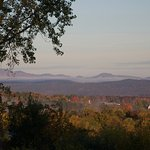 The view of the Lake Champlain Valley and the Adirondacks