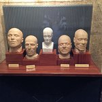 lots of death masks throughout the cells