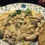 Dinner for a birthday. Prawns, Veal and Pasta. Nice not great, unfortunately.