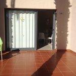 Door way into accommodation