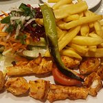 Chicken with chips & salad