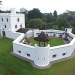The historic Fort Margherita, home of The Brooke Gallery