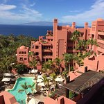 View to Gomera from seaview room with family pool below